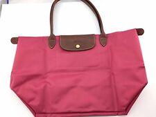 Authentic LONGCHAMP Le Pliage Big Shopper, Long Handle Malabar Pink NEW
