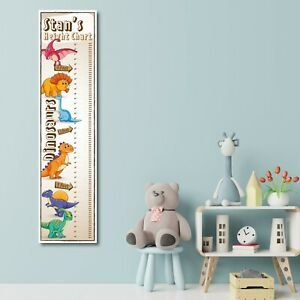 PERSONALISED DINOSAUR HEIGHT CHART - DESIGN 1 - ANY NAME (1FT X 4FT) - CHILDRENS