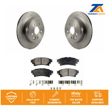 Rear Disc Rotors & Ceramic Brake Pads Fits Lexus GS350 IS350 RC350 IS200t IS300