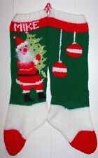 For Christmas 2020 Hand Knit Christmas Stocking Santa Personalized