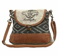 North Coast Anchor Cross Body Bag | 90% Cotton Canvas + 10% Genuine Leather