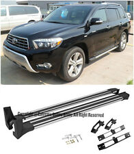 For 08-13 Toyota Highlander Aluminum Side Step Rail Nerf Bars Running Board
