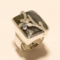 Natural Brazilian Labradorite Ring 925 Sterling Silver Designer Fine Jewelry New
