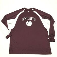 Knights Basketball Dry Fit Shirt Size Extra Large Maroon Red White Long Sleeve