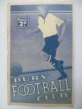 More details for 1938 bury v sheffield united 6th september central league - very rare