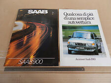 DEPLIANT ORIGINALE 1983 SAAB 900 TURBO + RARO DEPLIANT ACCESSORI