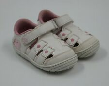 Stride Rite Toddler Girls White Pink Floral Sneakers Shoes Size 5M