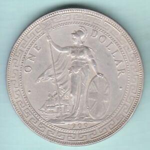 1900 China Hong Kong UK Great Britain Silver Trade Dollar High Grade