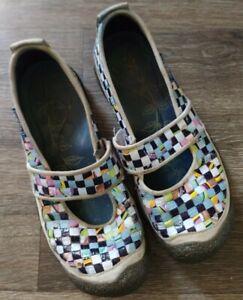 Keen Harvest Woven Rice Bag Vegan Mary Jane Walking Shoes Women's 7.5 Bump Toe