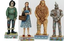 "JIM SHORE THE WIZARD OF OZ Dorothy Tin Man Lion Scare crow 4.5"" Ht New Set of 4"