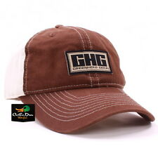 AVERY GREENHEAD GEAR GHG LOGO 2-TONE TWILL HAT BALL CAP BROWN STONE