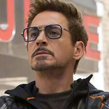 Tony Stark Sunglasses For Men Metal Avengers Iron Man Square Sun Glasses Eyewear