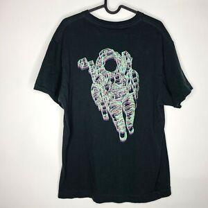 Billionaire Boys Club Blueprint Astronaut Digital VR Art Black T-Shirt L RARE