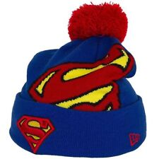 A24 NEW ERA OFFICIAL SUPERMAN Blue and Red Hero Knit Bobble Hat Beanie * NEW