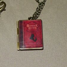 & Watson book charm Locket necklace Sir Arthur Conan Doyle Sherlock Holmes