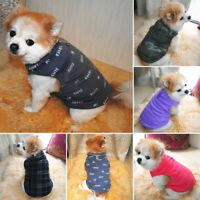 Warm Fleece Winter Dog Clothes Small Large Big Dogs Pet Coats Vest Jacket