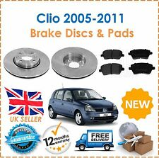 For Clio MK3 1.1 1.4 1.5 DCi 1.6 2.0 2005-2011 Front Brake Discs & Pads Set New