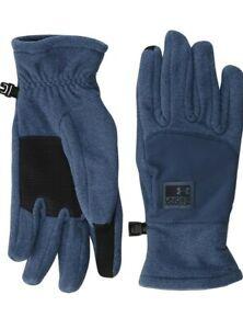 Under Armour Men's Coldgear Infrared Fleece Gloves Mechanic Blue/Black Sz XL
