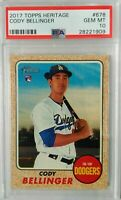 Cody Bellinger 2017 Topps Heritage rookie rc #678 PSA 10 gem mint Dodgers rc hot