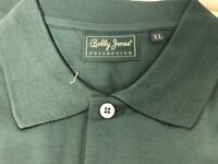Bobby Jones Polo Golf  XL Short Sleeve Men's Shirt  Alaqua Gray Green NWT Italy