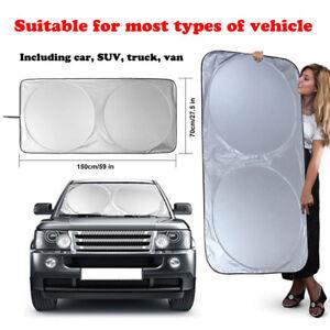 Foldable Large Sun Shade Truck Van Car Windshield Visor Block Cover 190cmx90cm