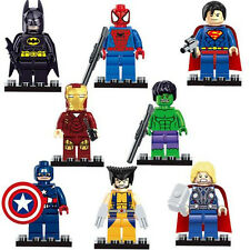 8pcs Movie Super Heroes Action Figure Doll Building Blocks Set Kids Boy Girl Toy