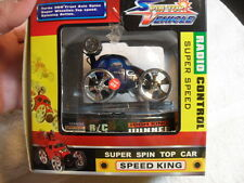 BLUE SPEED KING REMOTE CONTROL RC SUPER Spin Top Vehicle Car Mint In Box 27MHZ