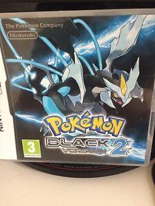 Pokemon Black Version 2 ds genuine with box and manual Nintendo 2012