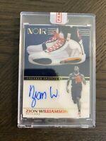 Zion Williamson 2019 Panini Noir Sneaker Spotlight Rookie Auto 73/99