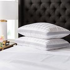 Beckham Hotel Collection Gusset Gel Pillow 2-Pack - Diamond Embossed Luxury Gel