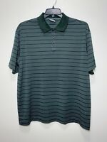 NIKE GOLF DRI-FIT Men's Short Sleeve Polyester Polo Shirt Green Size XL Stripes