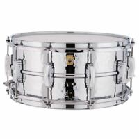 "Ludwig USA LM402K Supraphonic Hammered Aluminum Snare Drum, 6.5"" x 14"""