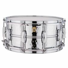 """New Ludwig LM402K Supraphonic Hammered Aluminum Snare Drum, 6.5"""" x 14"""", USA Made"""