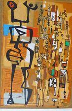 """MAYEU PASSA """"RUE DU MARCHE"""" Hand Signed Original Lithograph  French Artist"""