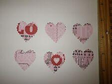30 Fiskars Scalloped Heart Paper Die Cut Punches Confetti in Valentine print