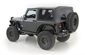 Smittybilt Soft Top for Jeep Wrangler JK 10-18 2 Door OEM Black Diamond 9075235