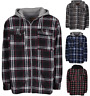 Men's Sherpa Lined Flannel Jacket Fleece Jacket Quilted Sherpa Hoodie Flannel