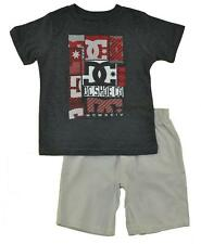 DC Shoes Boys S/S Charcoal Gray Top 2pc Short Set Size 4 5 6 7 $49.50