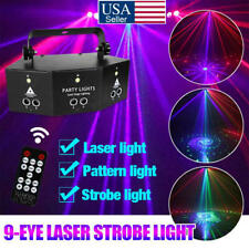 2021 Stage Lights Laser LED Light Remote 9-EYE RGB DMX Scan Projector Strobe DJ