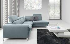 Ecksofa Sofa STELLA XL mit Schlaffunktion Mintgrün Ottomane Rechts