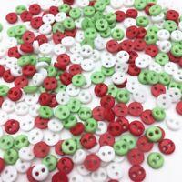 50 bouton rond 6 mm couture scrapbooking bricolage 2 trou mercerie création Noel