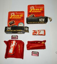LOT OF NOS GIANT SIZE JON-E BURNER CARRYING BAG WICK HAND WARMER PARTS 1-GB
