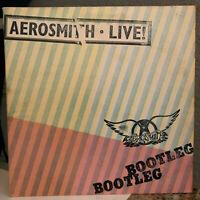 "AEROSMITH - Live Bootleg (Double Album, 1978 Pressing) 12"" Vinyl Record LP - VG+"