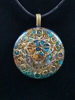 Ultimate Expression Throat Chakra Orgone Pendant for Creativity & Speaking