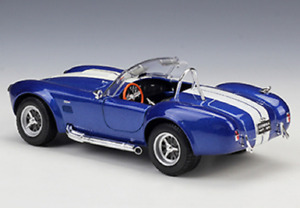Brand new box Welly 1:36 1965 Shelby Cobra 427 SC die-cast model racing blue