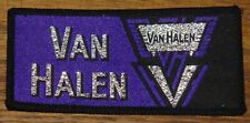 VAN HALEN VINTAGE ORIGINAL CIR 1980 EMBROIDERED WOVEN CLOTH SEWING SEW ON PATCH