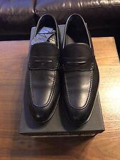 NEW Authentic Hugo Boss Men's Slip On Driver Loafer Bront Leather Black 7 $395