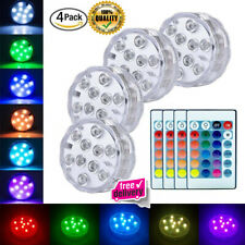 New listing 4X Remote Control Color Submersible Led Light Style Waterproof Accent Decorative