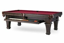 Plank & Hide Talbot 8 ft Billiards Pool Table w/ Drawer - Burnished Brown