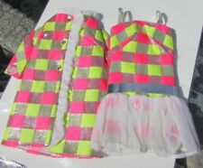 Vintage Barbie Doll Sparkle Squares Outfit #1814 1969 Bright Exc N/M Dress Coat